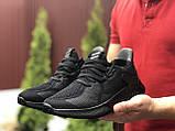 Мужские летние кроссовки Adidas,черные,сетка, фото 2