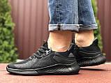Мужские летние кроссовки Adidas,черные,сетка, фото 3