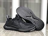 Мужские летние кроссовки Adidas,черные,сетка, фото 4