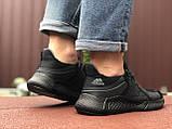 Мужские летние кроссовки Adidas,черные,сетка, фото 5