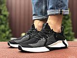 Мужские летние кроссовки Adidas,черные,сетка, фото 6