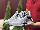 Мужские летние кроссовки Adidas,светло серые, сетка, фото 2