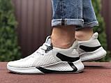 Мужские летние кроссовки Adidas,светло серые, сетка, фото 4