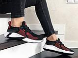 Женские летние кроссовки Adidas,черные с красным, сетка, фото 4