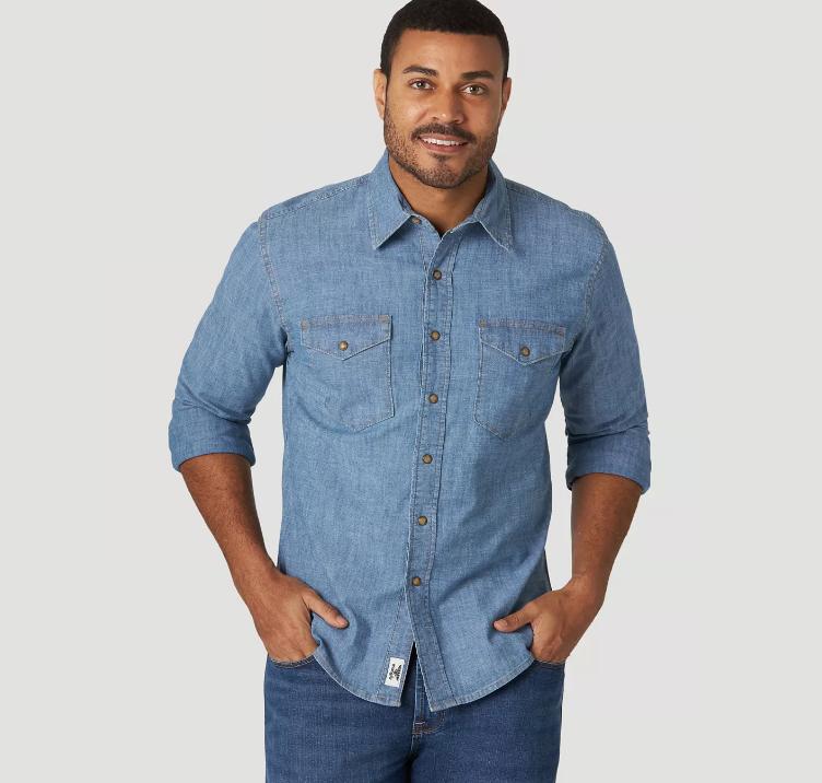 Рубашка джинсовая Wrangler - Light Wash