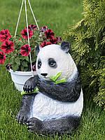 Садовая фигура скульптура из гипса Панда, 38 см