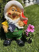 Садовая гипсовая фигура Гном с лопатой, 45 см
