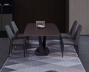 Мраморный стол прямоугольный. Модель 2-424