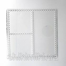 Заготовка из прозрачного акрила квадратная, для органайзера, 20*20 см