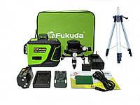 Лазерный уровень-нивелир 3D Fukuda MW-93T-2-3GX >>OSRAM диоды 3D >>БИРЮЗОВЫЙ ЛУЧ>>+ШТАТИВ