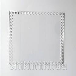 Заготовка из прозрачного акрила квадратная, 20*20 см