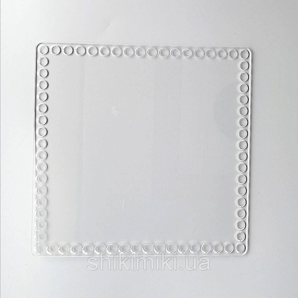 Заготовка из прозрачного акрила квадратная, 20*20 см (толщина 5 мм)