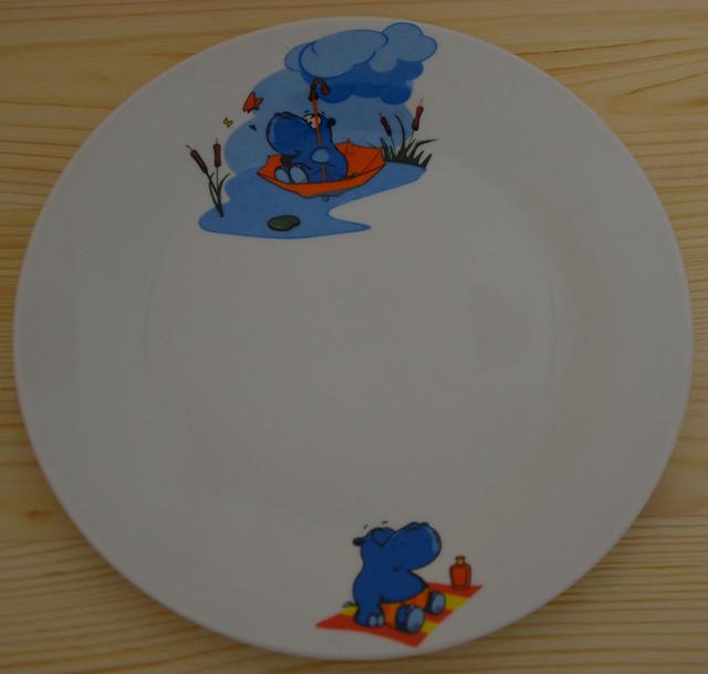"""Детский набор посуды """"Бегемотик"""" (фото)"""