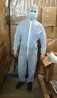Комбинезон защитный медицинский одноразовый на молнии с капюшоном (биозащита)