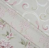 Декоративная ткань Петерс завиток фрезово-оливковый, фото 3