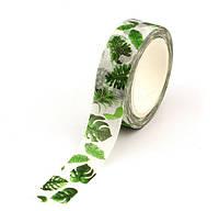 Скотч цветной декоративный Тропические листики Santtiwodo