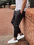 😉 Брюки - Мужские зауженые серые брюки широкого фасона, фото 3