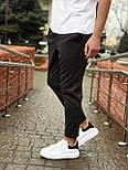 😉 Брюки - Мужские зауженые серые брюки широкого фасона, фото 2
