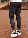 😉 Брюки - Мужские зауженые серые брюки широкого фасона, фото 4