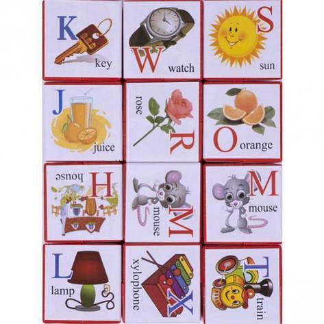 Кубики английские Азбука, фото 2