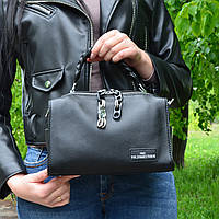 Женская черная сумочка из натуральной кожи - A9192/Black
