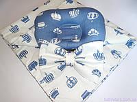 """Летние конверты на выписку с подушкой, """"Короны"""""""
