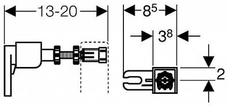 111.815.00.1 Geberit Duofix Кріплення до стіни, фото 2