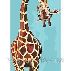 "Картина по номерам ""Весёлый жираф"" ★★★★"", 50 х 35  см"