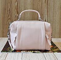 Женская пудровая сумочка из натуральной кожи (A961/Pink)