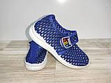 Мокасини на хлопчика сітка 31-35 р світло сині арт 103-1, фото 4