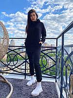 Жіночий спортивний костюм CAB чорний, XS-4XL / женский спортивный костюм кофта на молнии+брюки черный