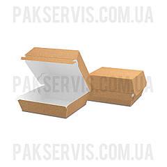 """Упаковка для бургера """"S"""" 100x93x58мм Крафт 1/100"""