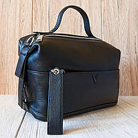 Женская черная кожаная сумочка  Polina&Eiterou - A9180/Black