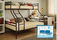 Металлическая двухъярусная кровать Smart (Смарт) 200(190)х140/80(90)см Метакам