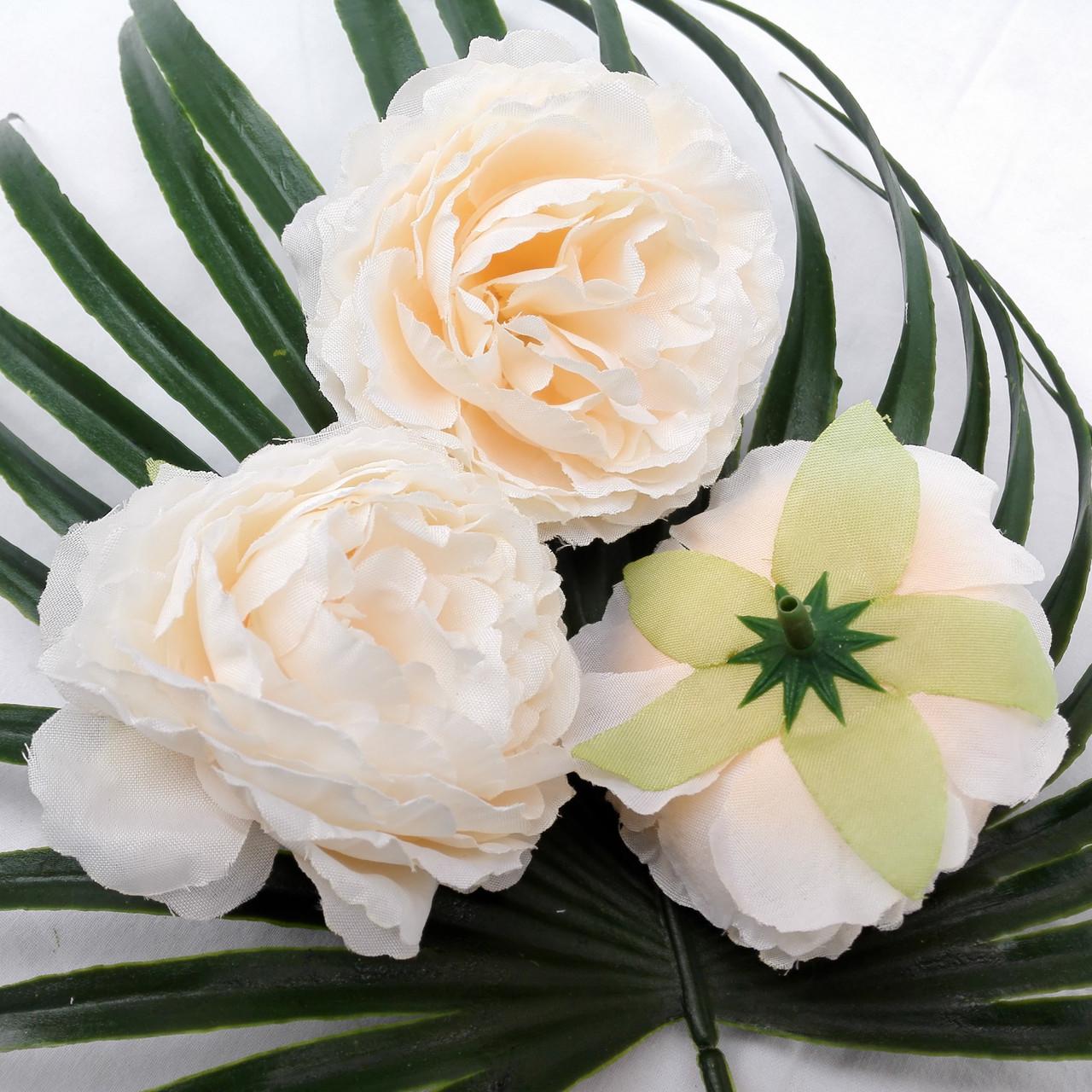 Пионовидная роза 8 см персиковый (10 шт в уп)