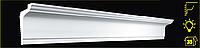 Плинтус потолочный 2м   GPX-4  80 х 50 mm для натяжных потолков и подсветки.