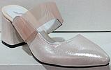 Сабо кожаные женские на каблуке от производителя модель РИ6005, фото 2