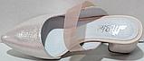 Сабо кожаные женские на каблуке от производителя модель РИ6005, фото 4