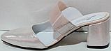 Сабо кожаные женские на каблуке от производителя модель РИ6005, фото 3