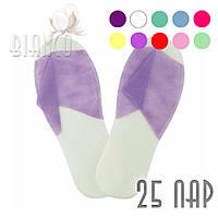 Тапочки Panni Mlada для SPA, сауны, гостиницы (одноразовые) с открытым носком, (25 пар/уп), цвета