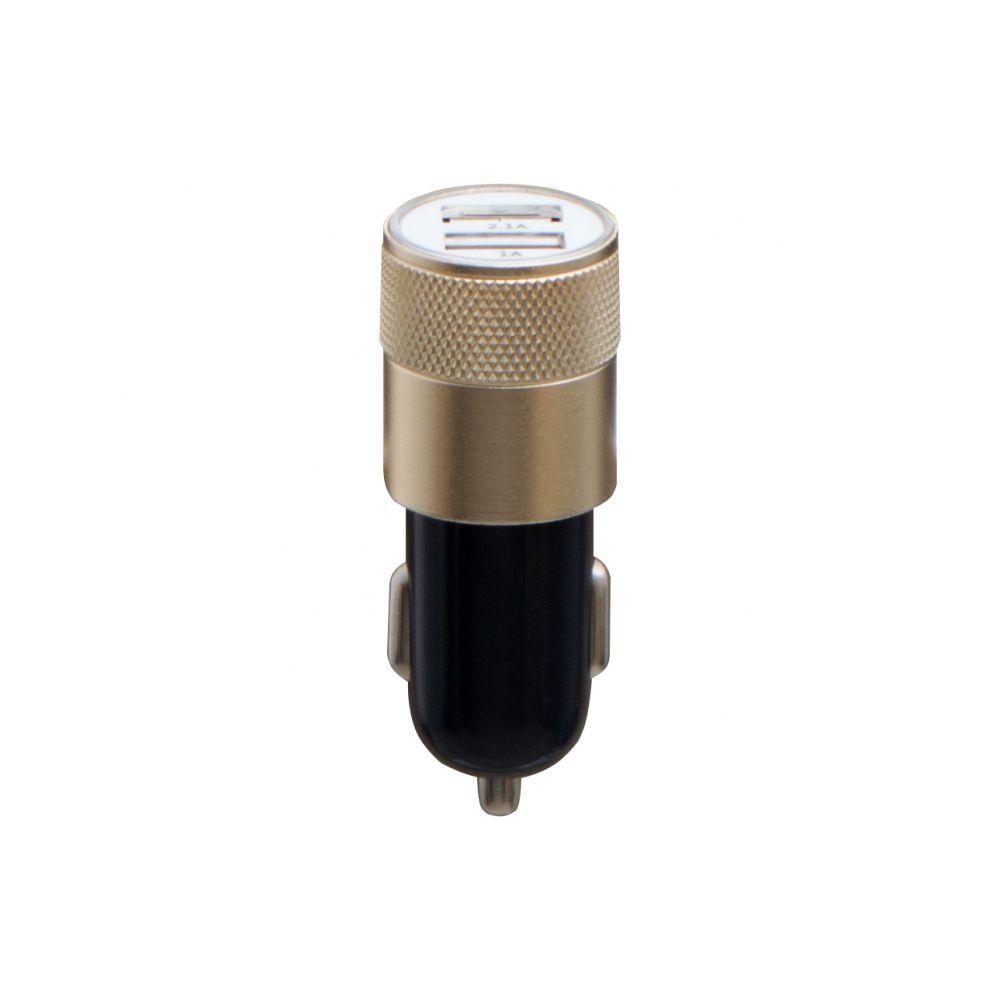 Автомобильное зарядное устройство M-06 (2USB, 2.1A, золотистый)