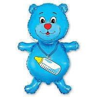 Фольгированный мини-шар Медвежонок мальчик (Flexmetal)