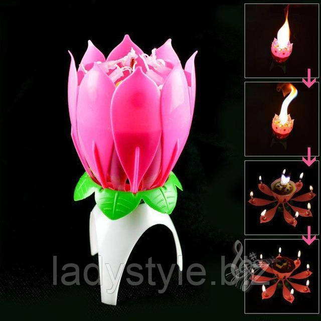 Свеча цветок лотос для торта от студии LadyStyle.Biz