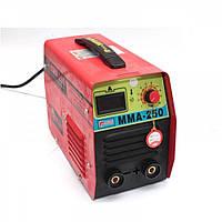 Сварочный инверторный аппарат Edon MMA 250, 5,5 кВт, КПД 85%, рабочий цикл 60%, электрод 5 мм, свар. ток 250 А