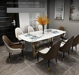 Мраморный стол прямоугольный. Модель 2-425