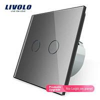 Сенсорный выключатель освещения LIVOLO VL-C702, два канала, Серый
