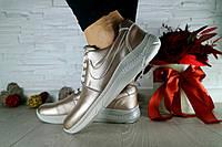 Женские кроссовки кожаные весна/осень серебристые CrosSAV 41