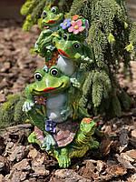 Фигура садовая Жабки на черепахе, 40 см