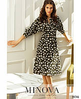 """Оригинальное платье с """"пейзанским"""" рукавом, на талии - две декоративные пуговицы с 42 по 46 размер, фото 2"""