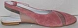 Замшеві босоніжки від виробника модель РИ6006, фото 3